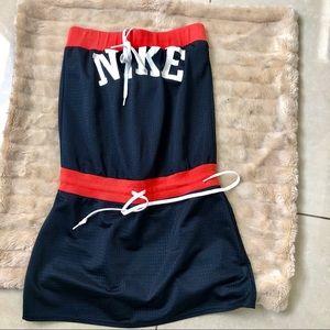 Nike black red strapless Tennis mini dress S